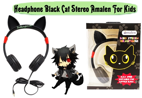 TAI NGHE AMALEN BLACK CAT STEREO FOR KIDS